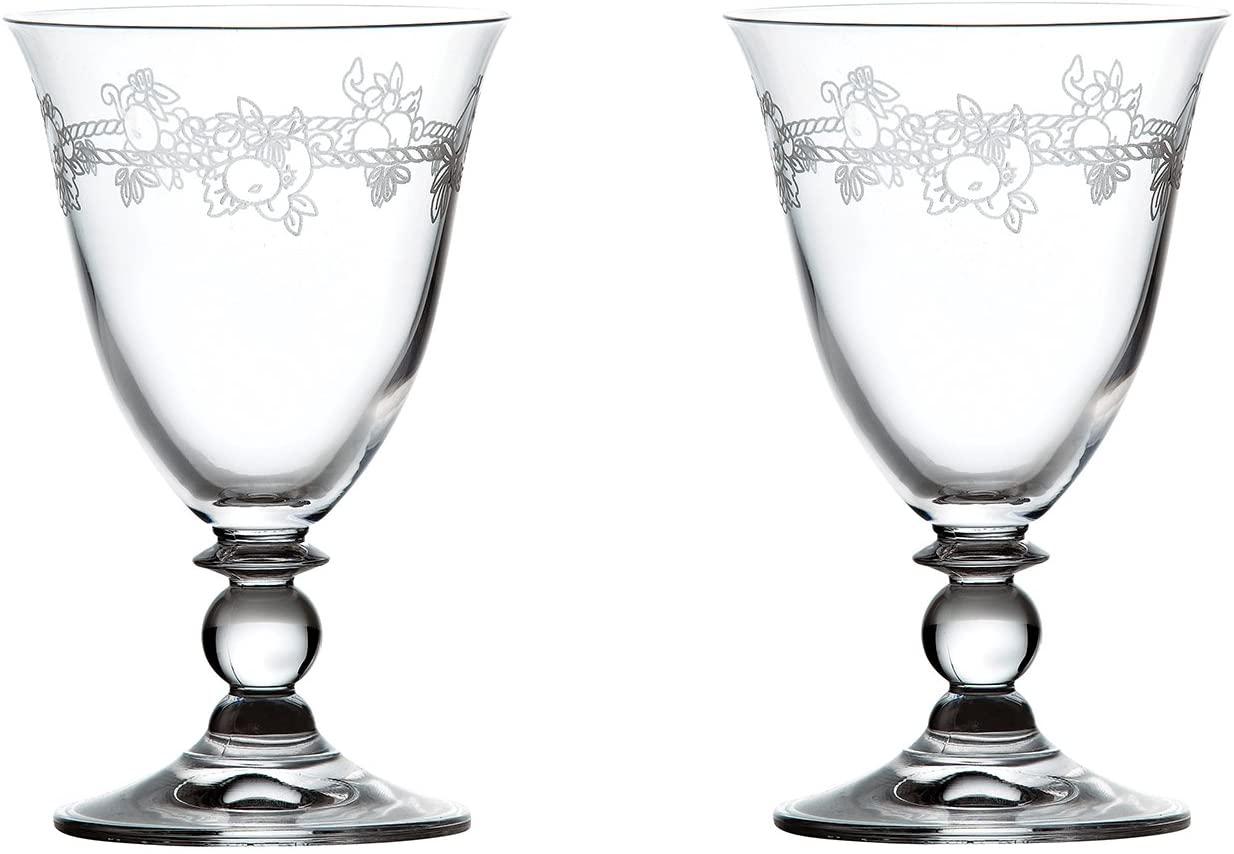 WEDGWOOD(ウェッジウッド) フェスティビティ クリスタル ワイン ペア  1053921 クリアの商品画像
