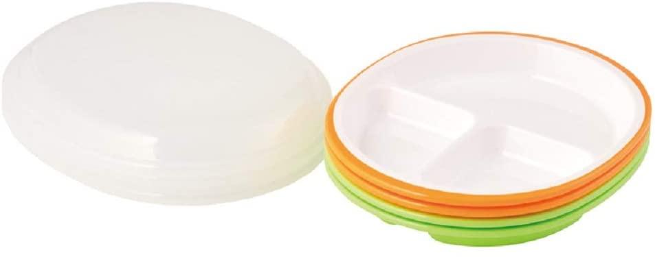 楽弁(ラクベン)フタ付ランチプレート(丸)オレンジの商品画像10