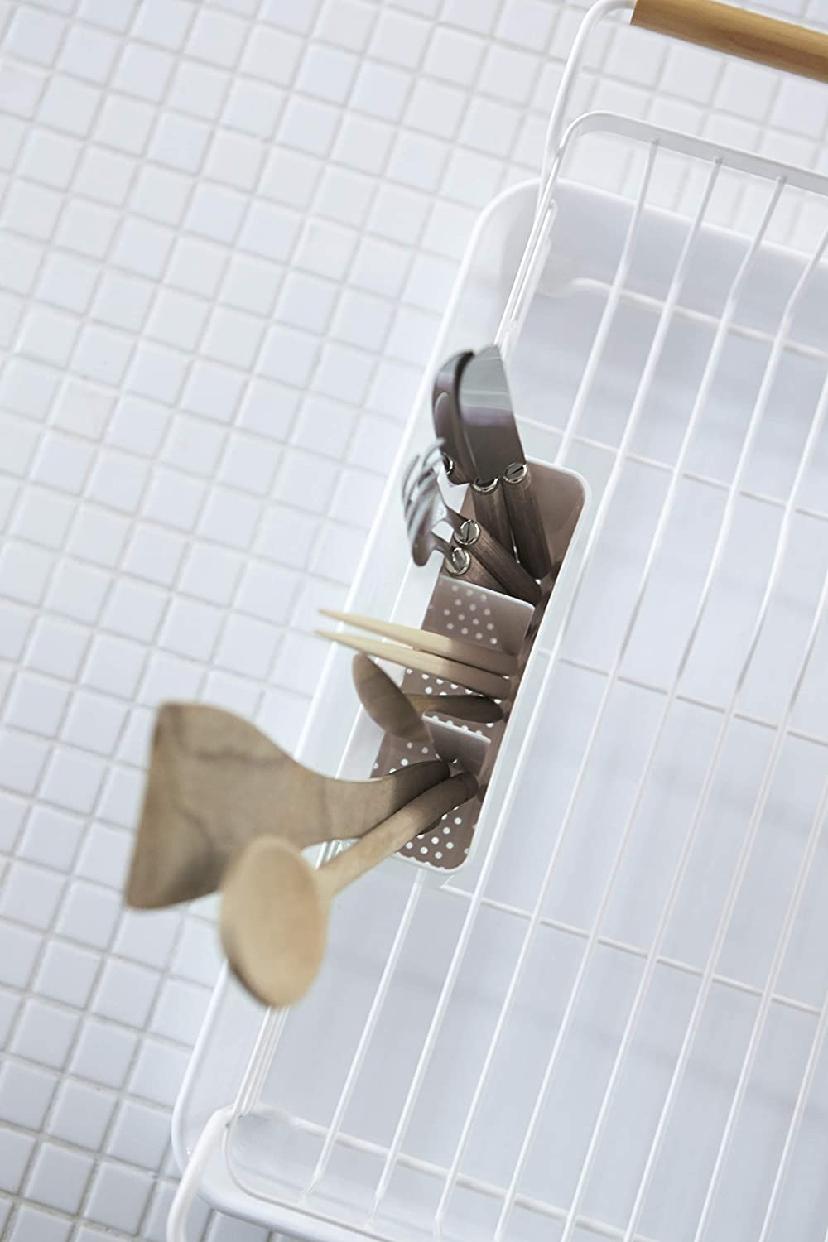 山崎実業(Yamazaki) 水切りバスケット トスカ 3107 ホワイトの商品画像6