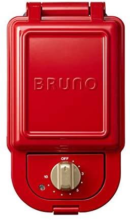 BRUNO(ブルーノ)ホットサンドメーカーシングル レッド ワッフルプレートセット BOE043-RD レッドの商品画像2