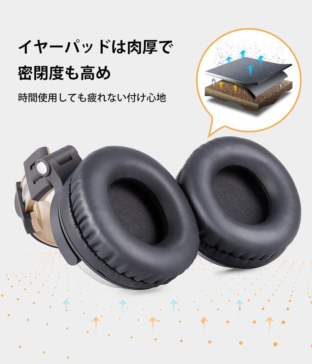 OneOdio(ワンオディオ) モニターヘッドホン Pro10の商品画像8