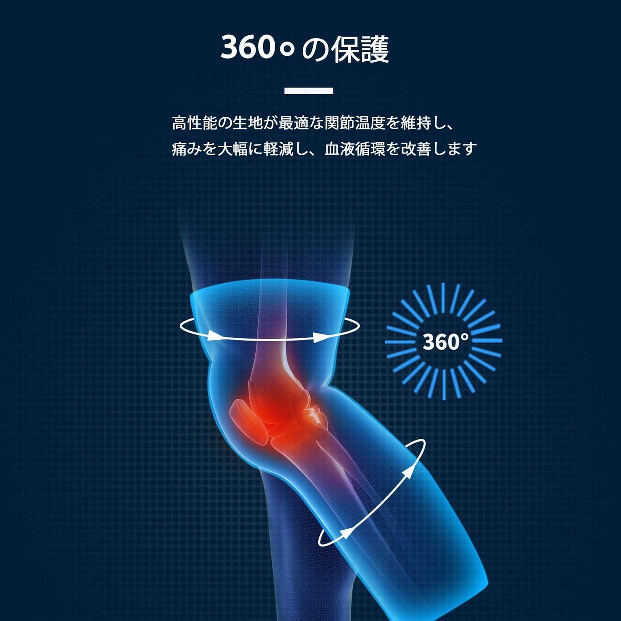 SKDK(エスケーディーケー) 膝サポーター ロングコンプレッションレッグスリーブの商品画像4