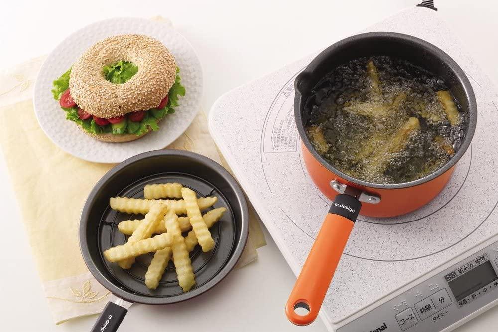 m.design(エムデザイン)お弁当あげもの鍋 オレンジ MAD-2の商品画像6