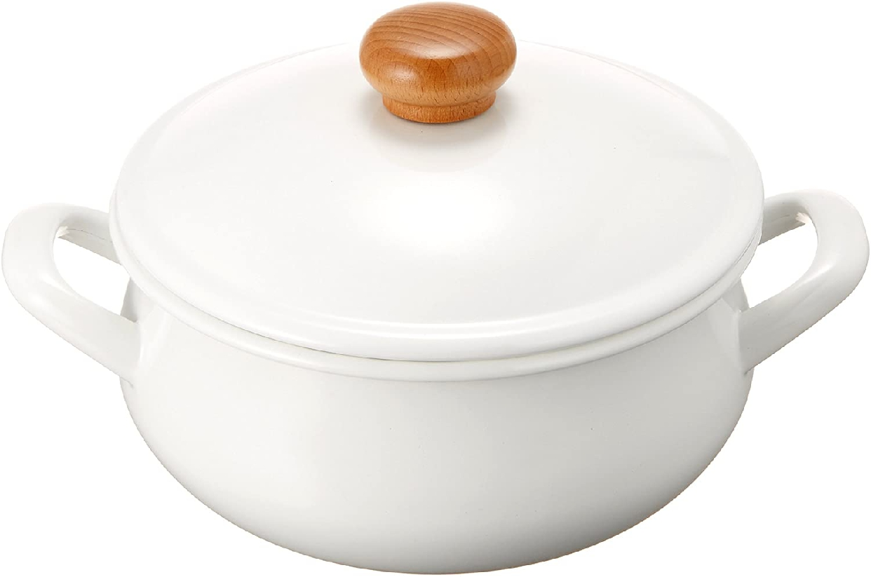 POCHKA(ポーチカ) キャセロール 20cm  ホワイト (POー20W)の商品画像