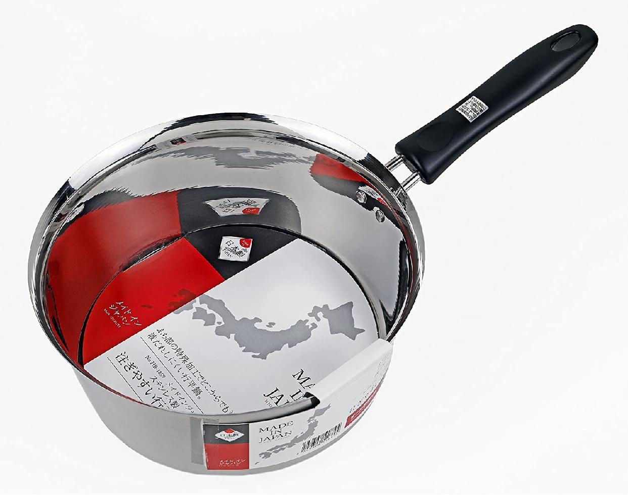 パール金属(PEARL) メイドインジャパン ステンレス製注ぎやすい行平鍋20cm HB-1889 シルバーの商品画像2