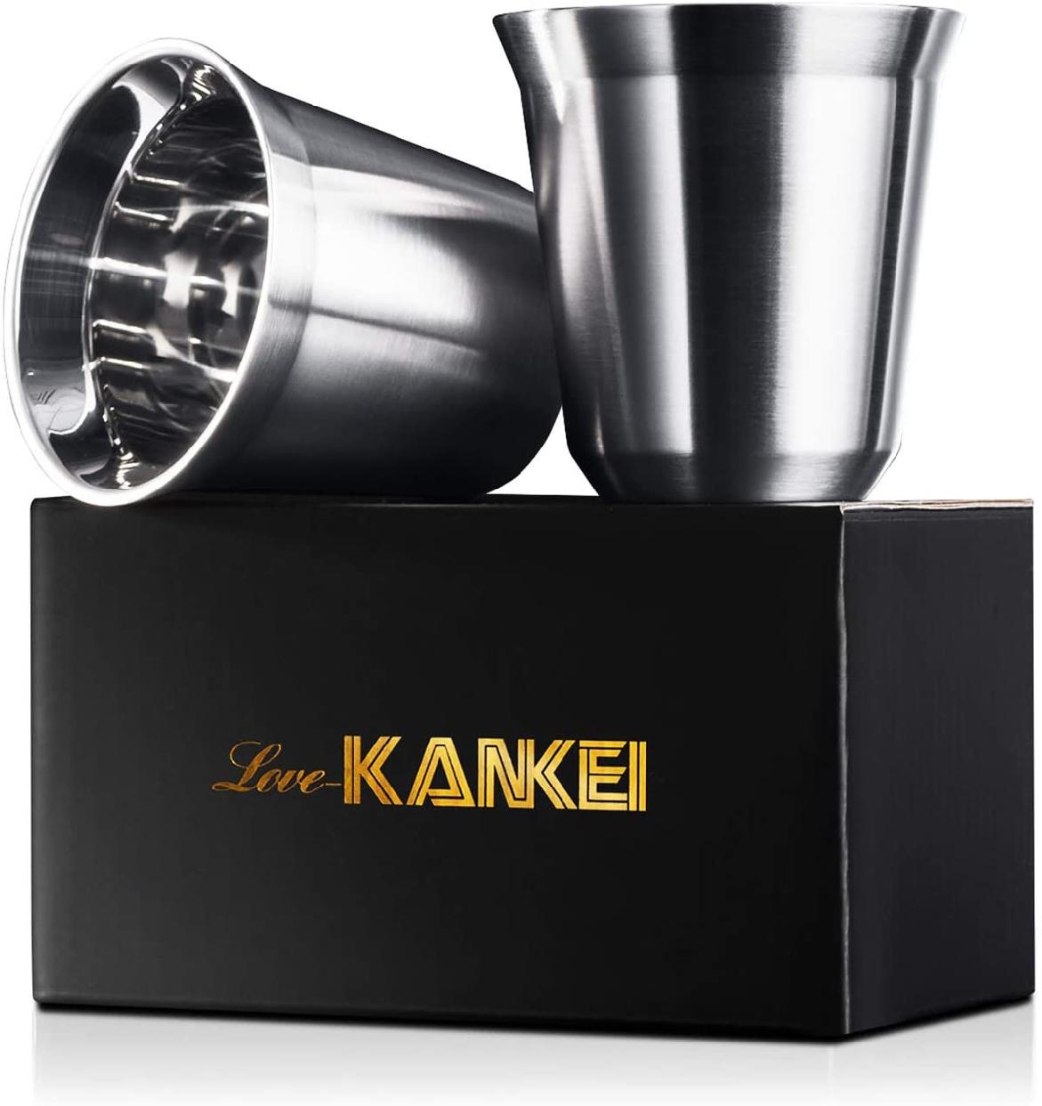 Love-KANKEI エスプレッソカップ ステンレス 2個セットの商品画像