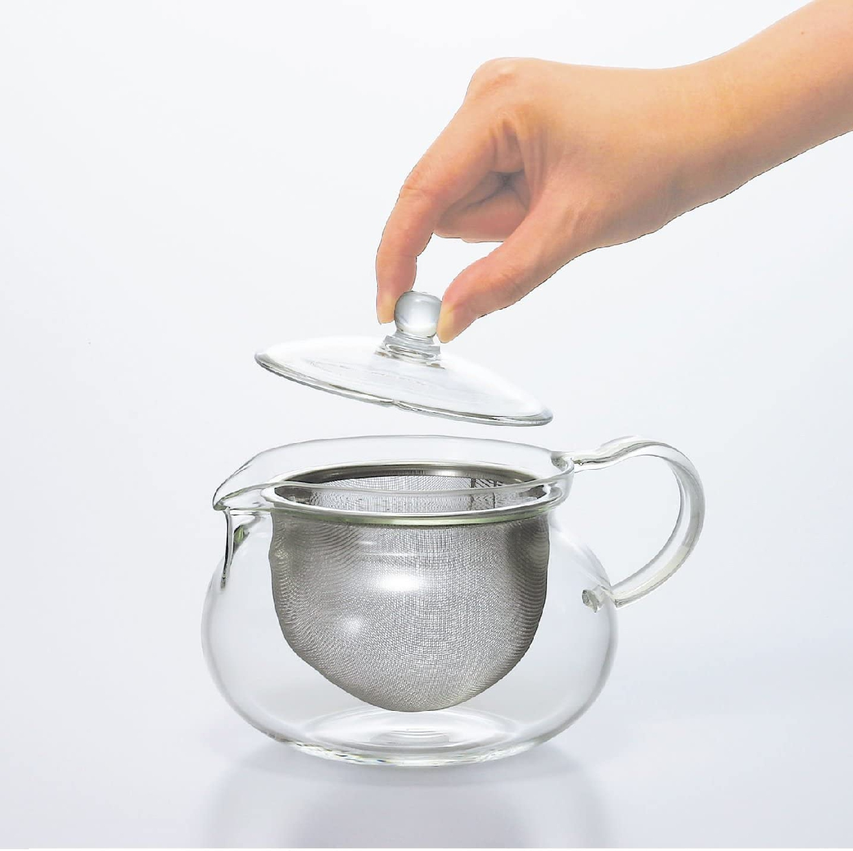 HARIO(ハリオ) 茶茶急須 丸 CHJMN-45T クリアの商品画像3