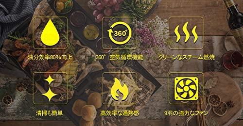 ONLIFE(オンライン)ノンフライヤー スリムDX 2.4L LFR-806BK ブラックの商品画像5