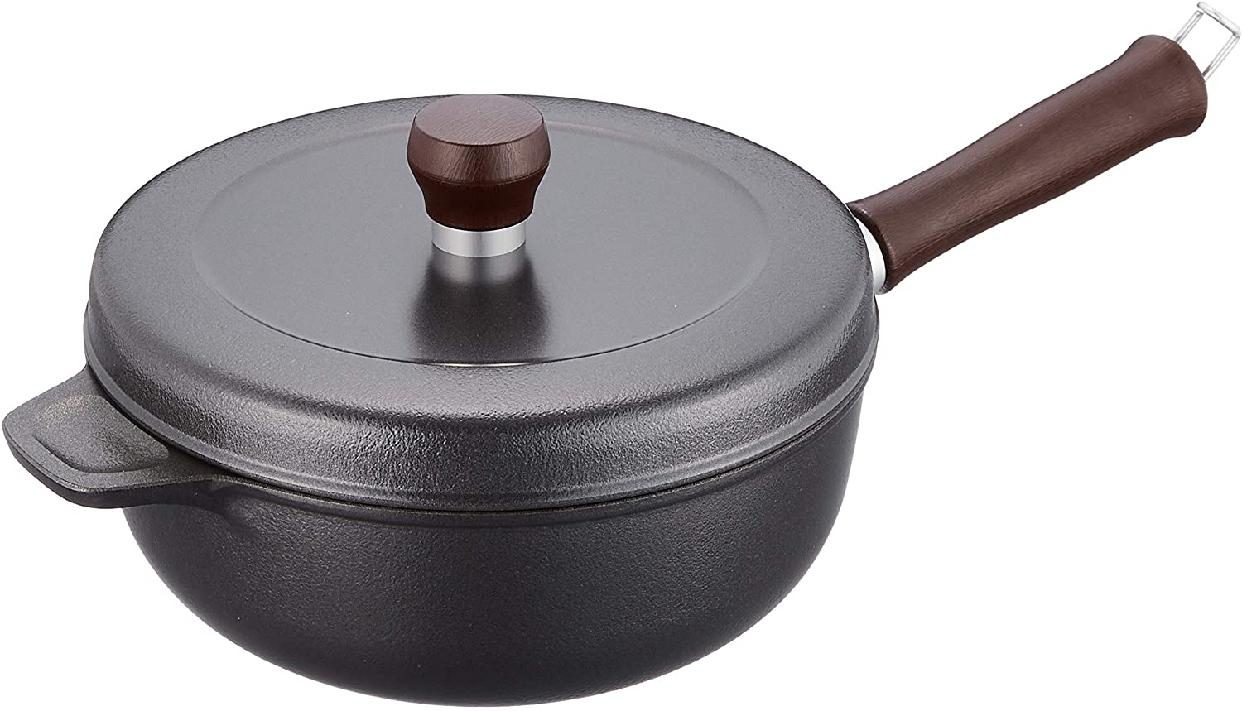 味わい鍋(あじわいなべ)片手鍋 ブラック 直径20cmの商品画像
