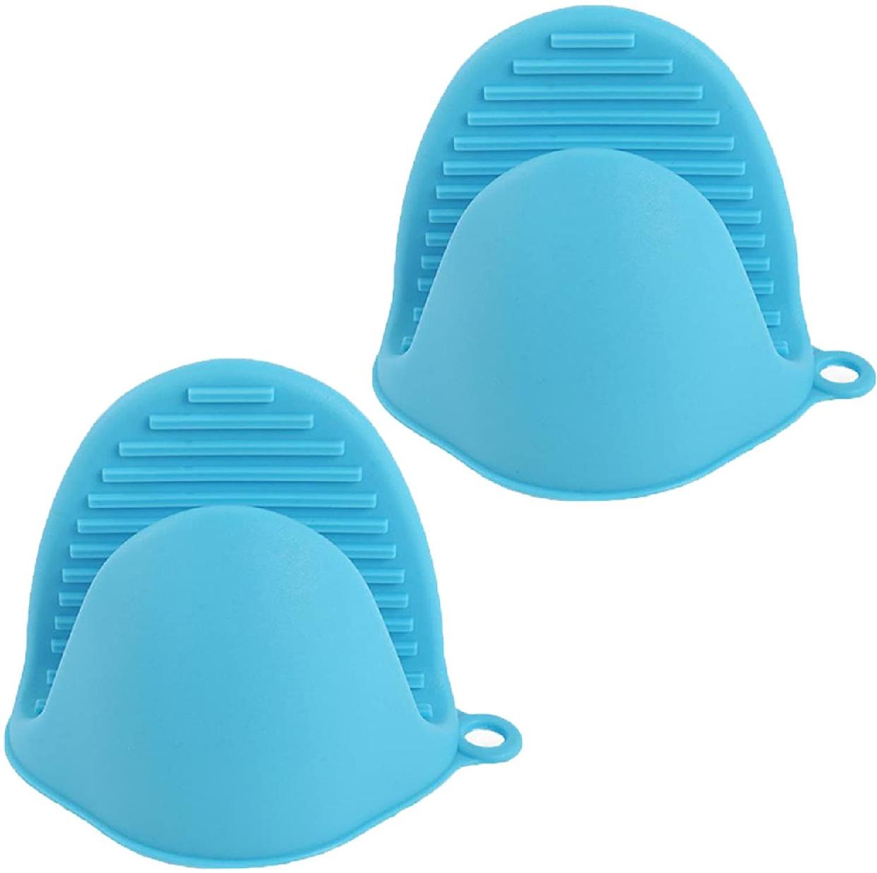 Fumemo(フメモ) 鍋つかみ 水色 2個セットの商品画像