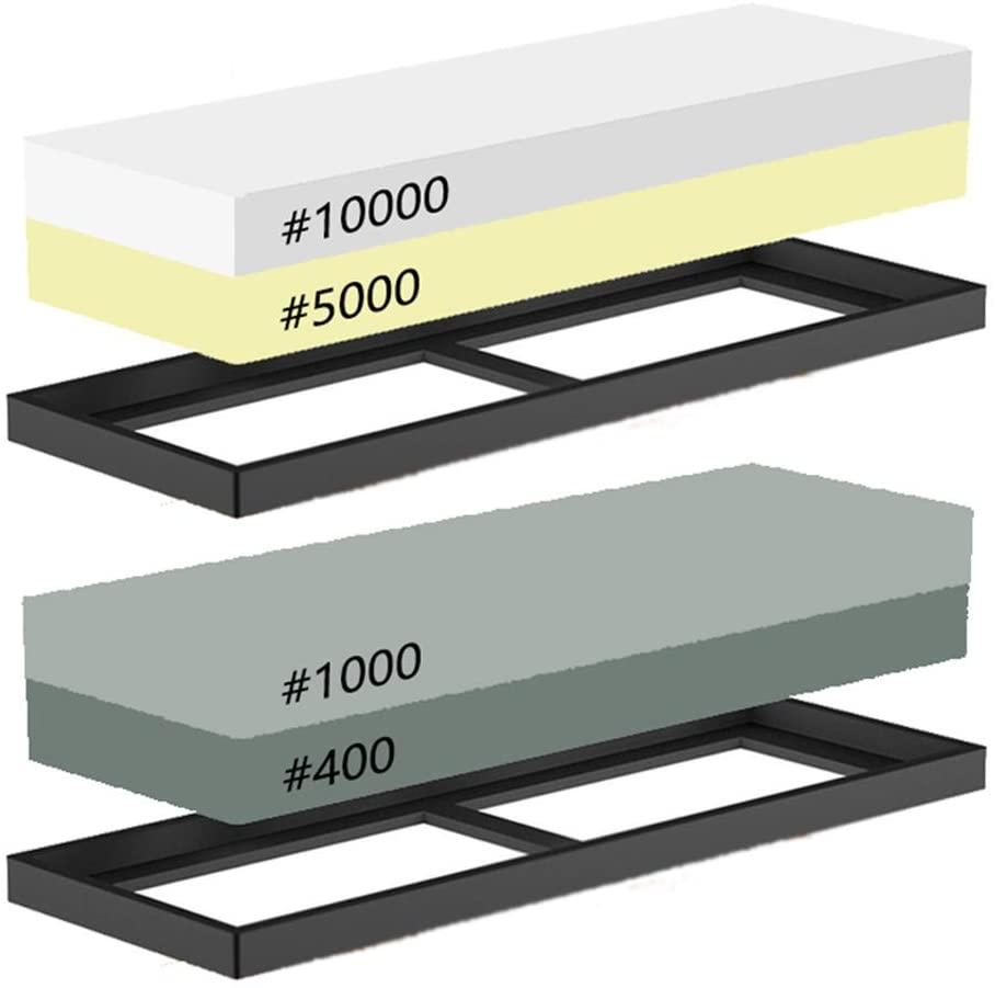 timiland 高級両面砥石 2個 400番1000番 5000番 10000番 18 x 12 x 3 cmの商品画像