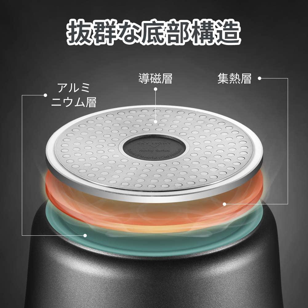 SKY LIGHT(スカイライト)片手鍋 18cm ミルクパンの商品画像4