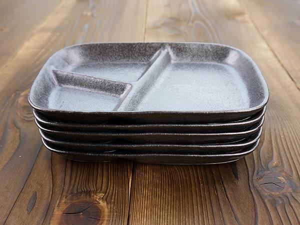 K'sキッチン(ケーズキッチン) 粉引 スタックランチプレート ブラック 22.7cmの商品画像5