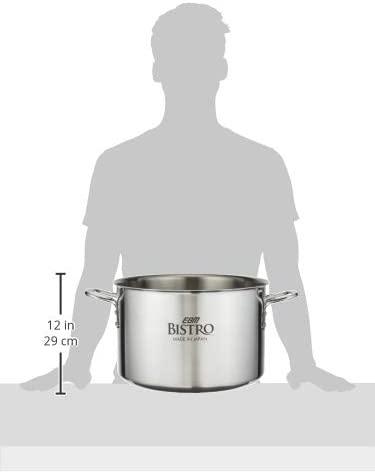EBM(エービーエム)ビストロ 三層クラッド 半寸胴鍋 36cm 蓋無 シルバーの商品画像6