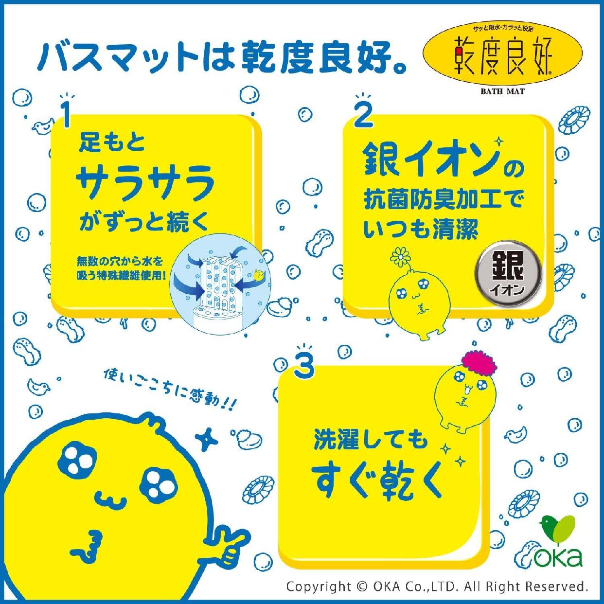 乾度良好(かんどりょうこう)うちねこ バスマットの商品画像3