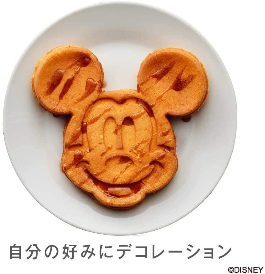 DOSHISHA(ドウシシャ)ワッフルメーカー ミッキーマウス シルバー WAFU-100SIの商品画像6