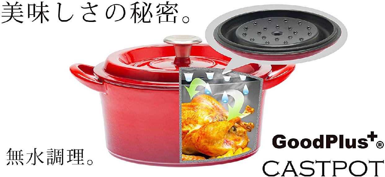 GoodPlus+(グッドプラス) キャストポット(鉄鋳物ホーロー鍋)の商品画像2
