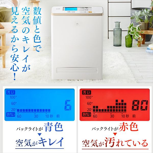 IRIS OHYAMA(アイリスオーヤマ) モニター空気清浄機 RMDK-50の商品画像3