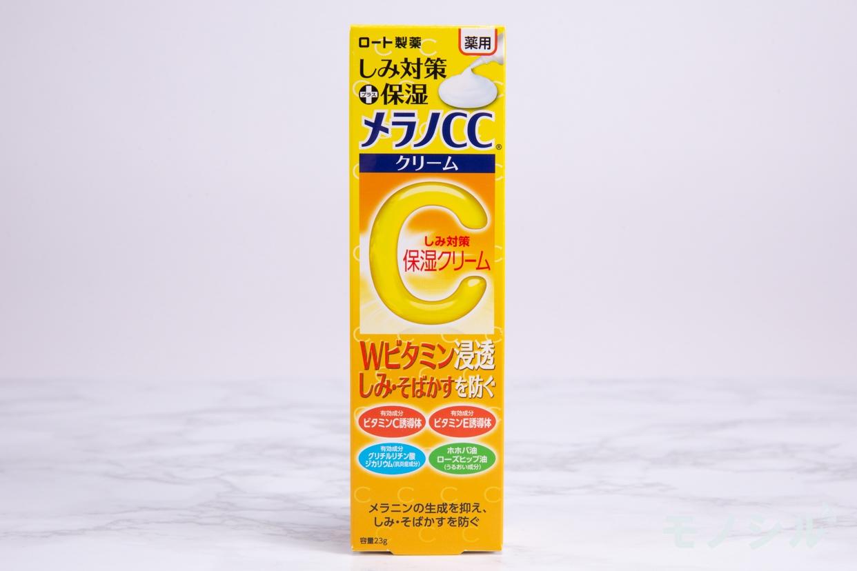 メラノCC(メラノシーシー) 薬用しみ対策 保湿クリームの商品外箱の画像