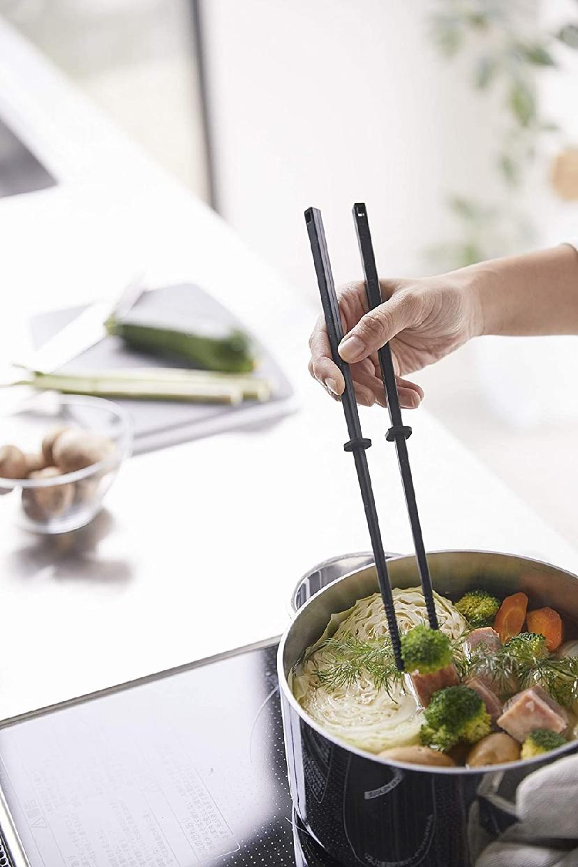 山崎実業(Yamazaki) シリコーン菜箸 タワー ブラック 4275の商品画像7