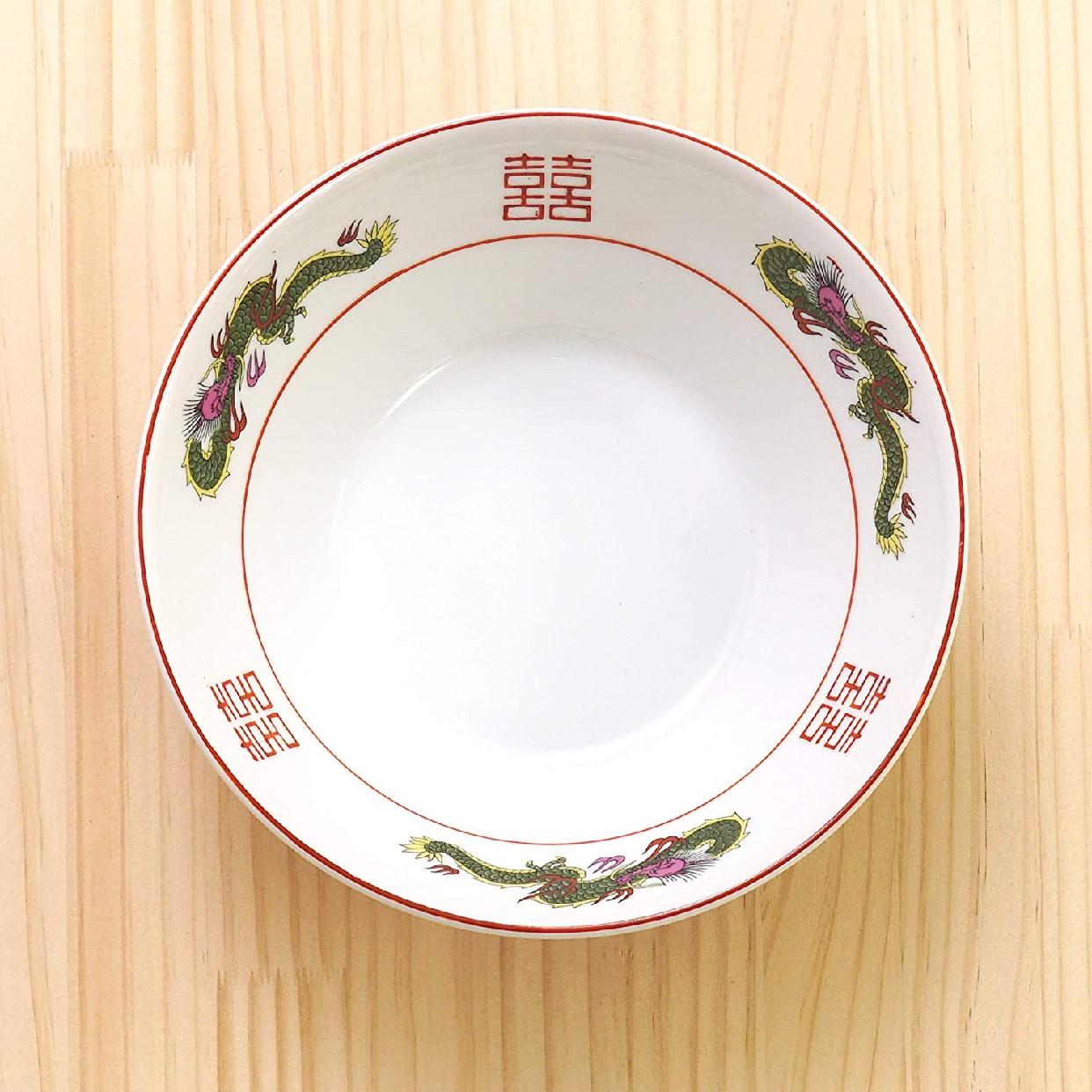 結彩の蔵 赤巻三ツ竜 6.3寸 切立丼 ト682-097 赤の商品画像3