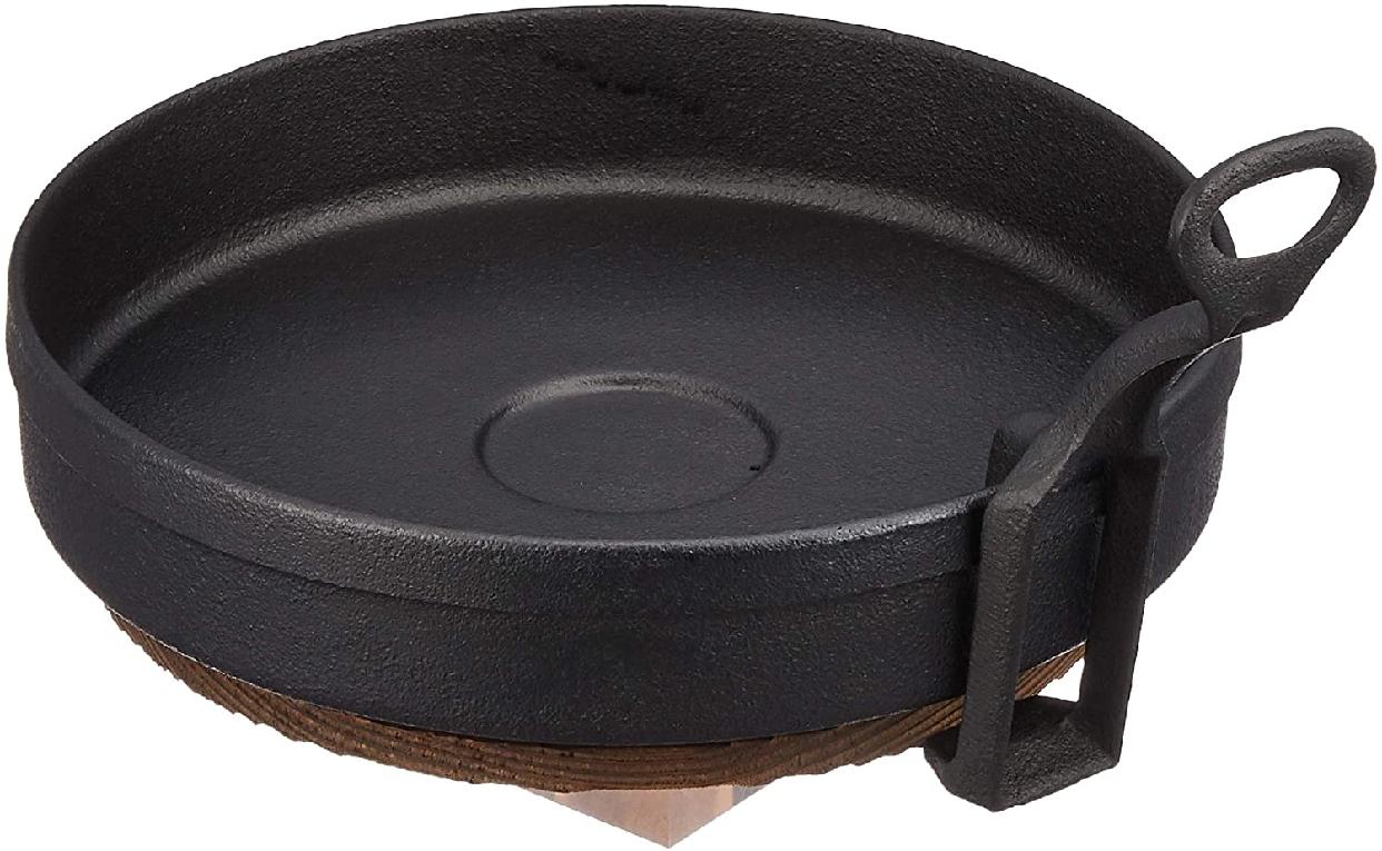 池永鉄工(イケナガテッコウ) ギョーザ鍋(すき鍋)ハンドル木台付 20の商品画像