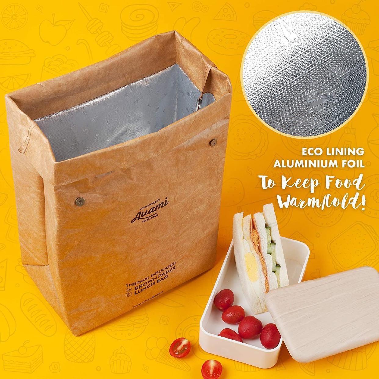 AVAMI(アヴァミ)ブラウンペーパーランチバッグの商品画像5