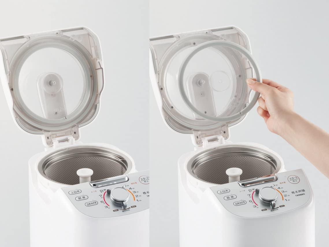 TWINBIRD(ツインバード)コンパクト精米器 精米御膳 MR-E751W ホワイトの商品画像5