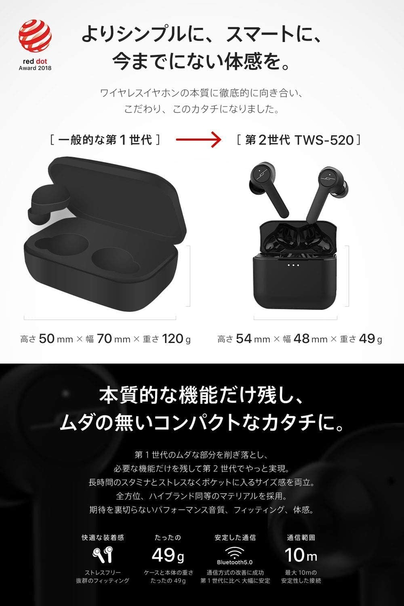 JPRiDE(ジェイピーライド) TWS-520の商品画像9