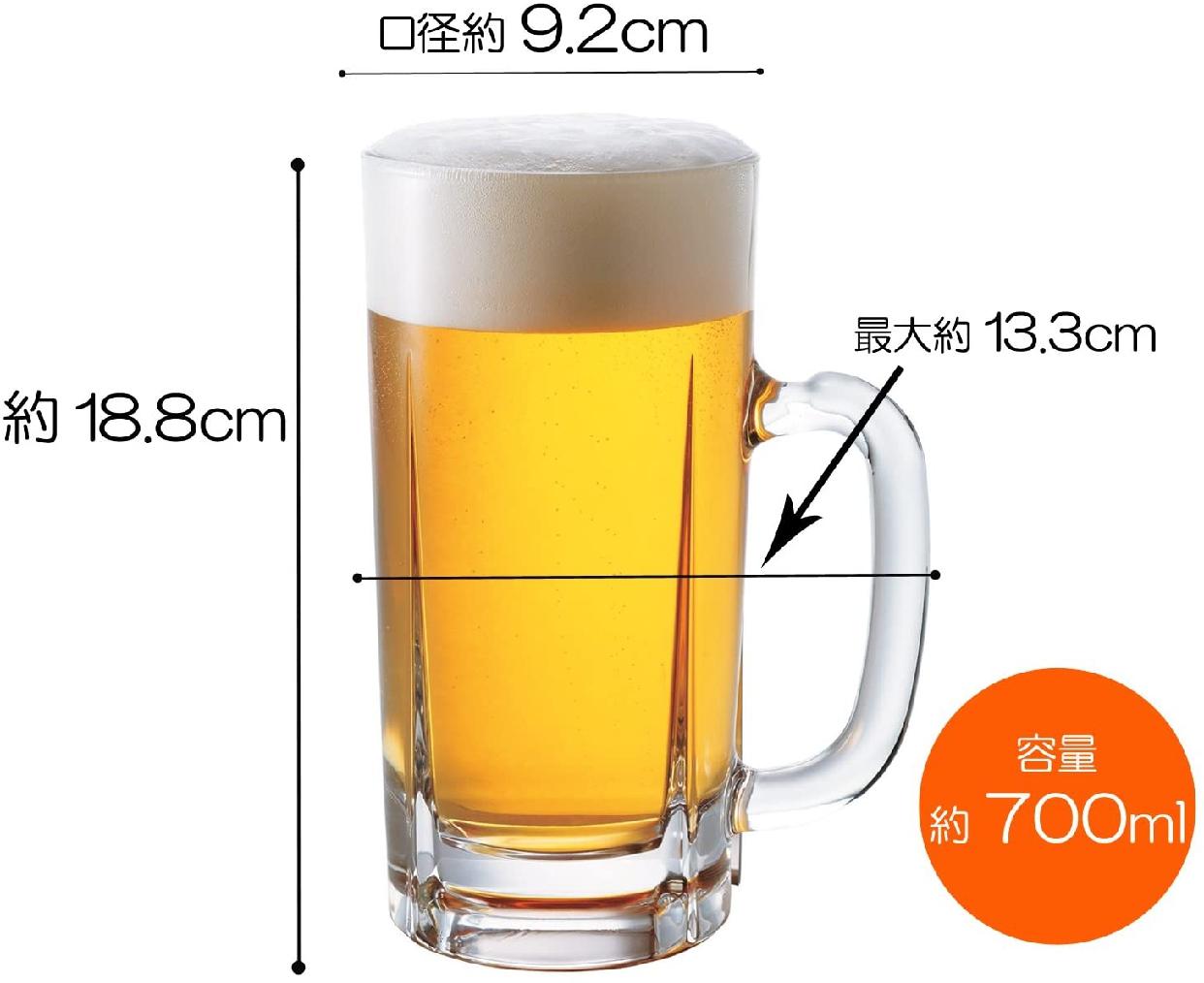 ADERIA(アデリア) ビールジョッキ クリアの商品画像3