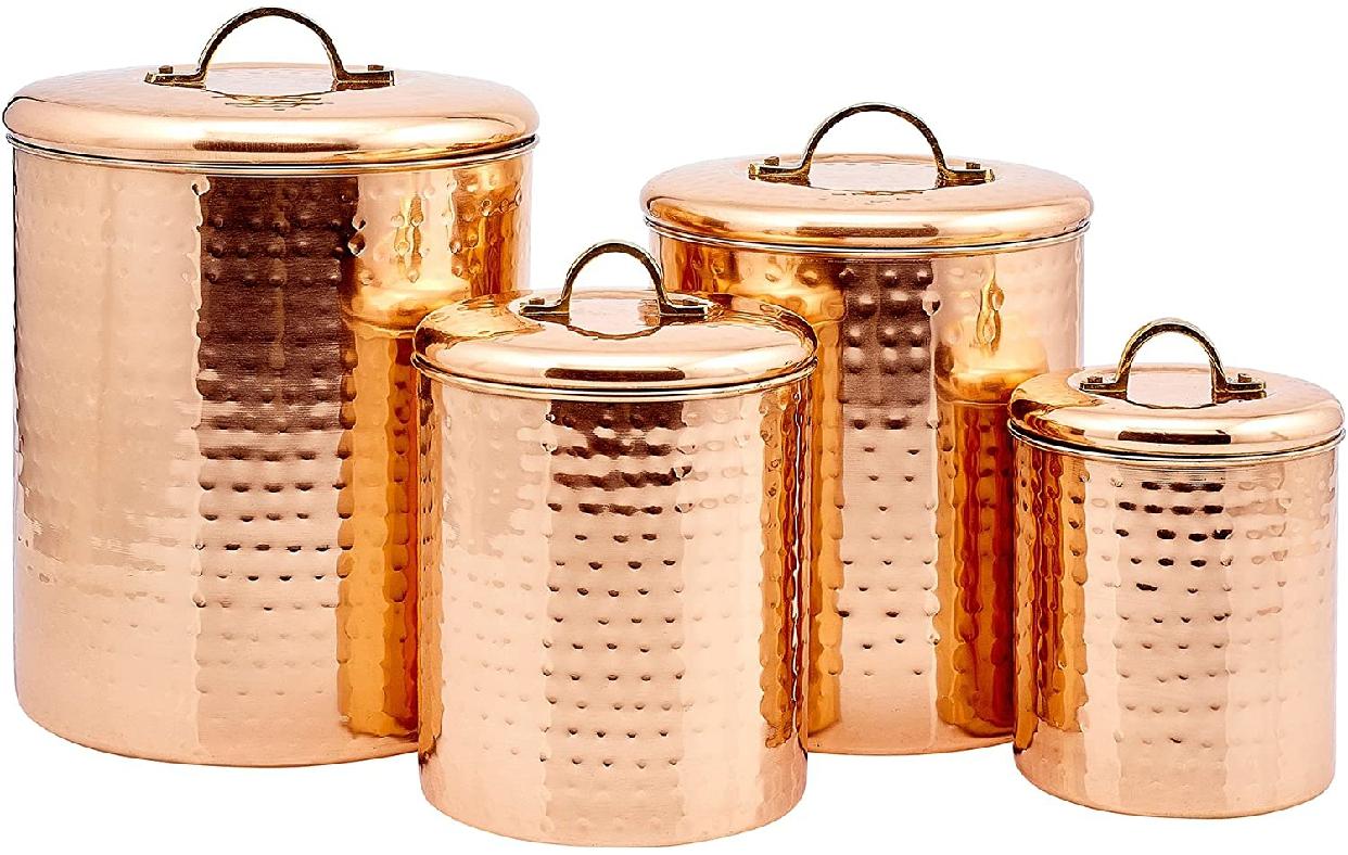 Old Dutch International(オールドダッチインターナショナル) キャニスターセット 4qt 2qt 1½qt 1qt 1qt 銅の商品画像