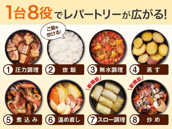 Cooking Pro(クッキングプロ) レシピ+延長保証セット シルバーの商品画像6