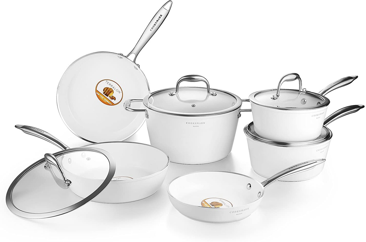 Cooksmark(クックスマーク) セラミックコーティング鍋セット ハクチョウシリーズの商品画像