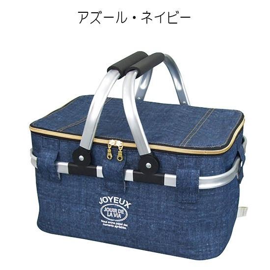 At First(アットファースト)保冷バスケット Lサイズ クーラーバッグ アルミフレーム ピクニック アズールブルーの商品画像9