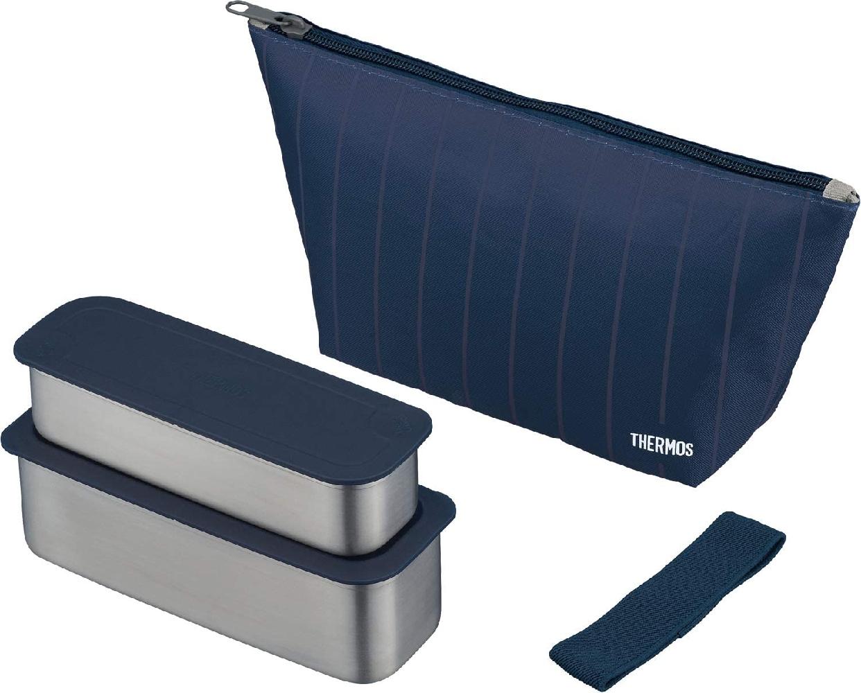 THERMOS(サーモス) フレッシュランチボックス 二段式 635ml DSA-603Wの商品画像