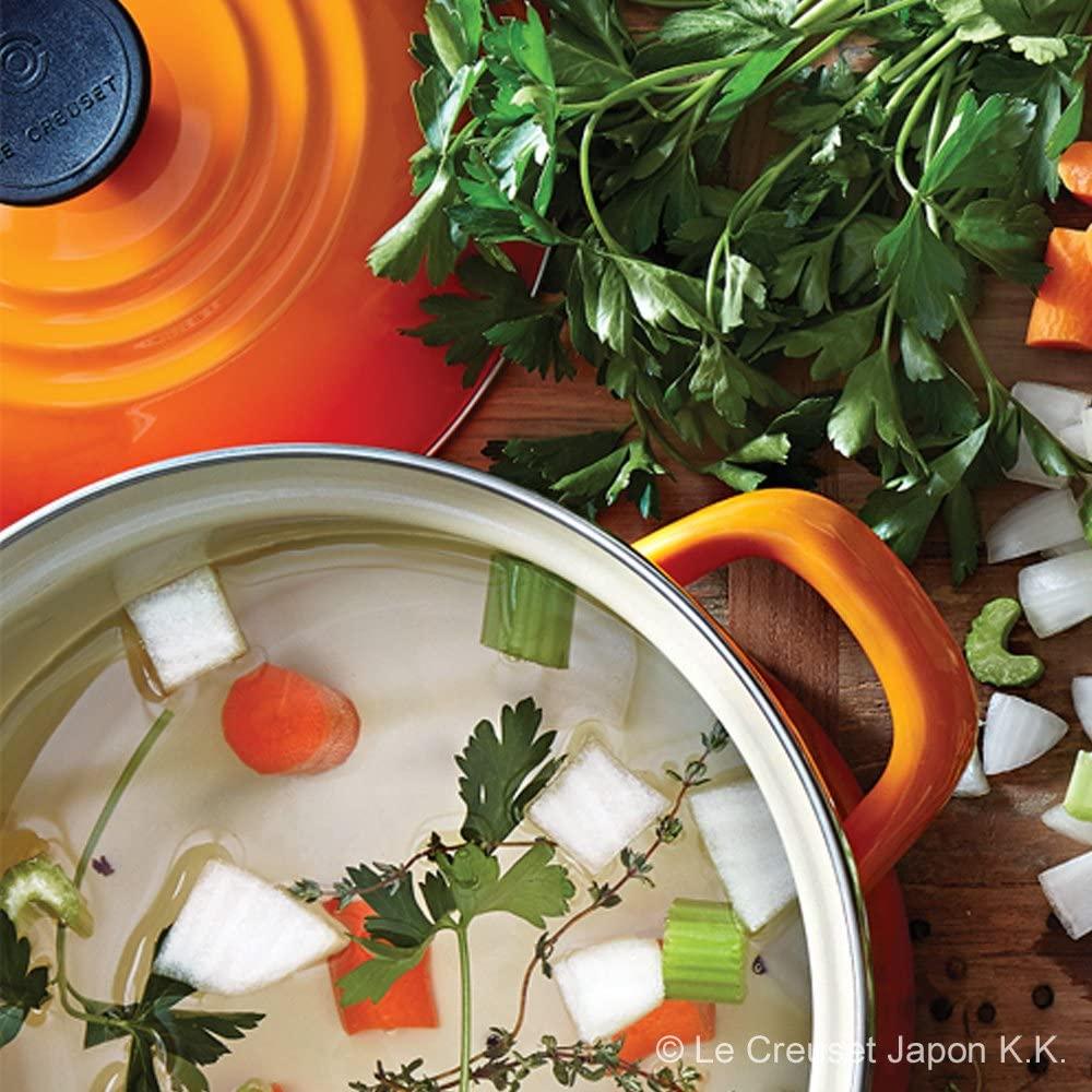LE CREUSET(ル・クルーゼ) ホーロー鍋 ストックポット 20cm ホワイトの商品画像4