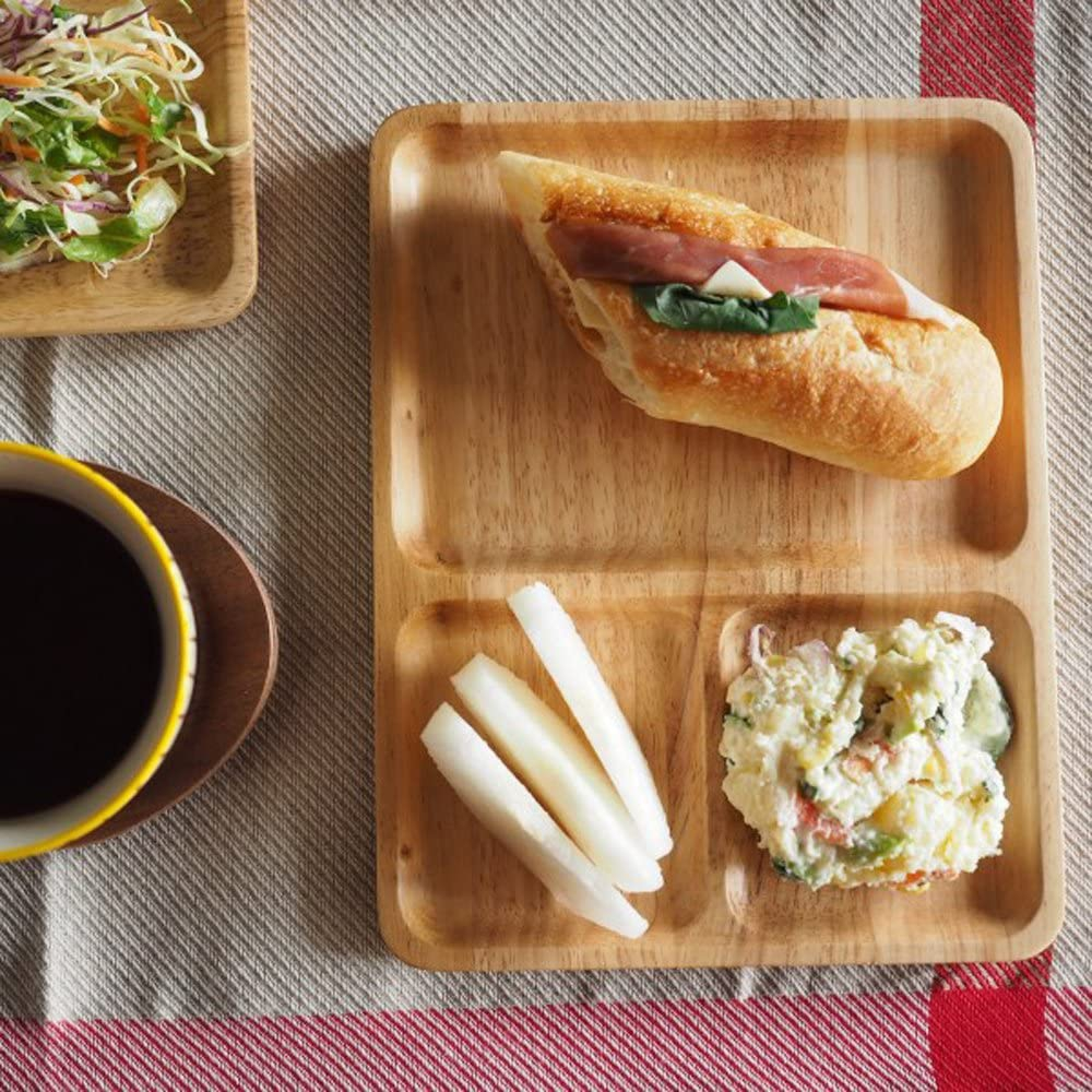 ACACIA(アカシア) CAFE PLATE SQUARE L ナチュラルの商品画像8