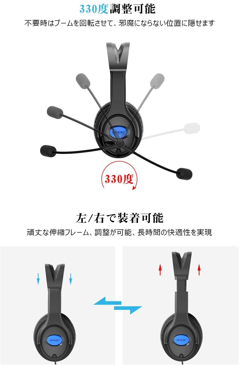 KYOKA(キョーカ) ノイズキャンセリングヘッドホン P4の商品画像4