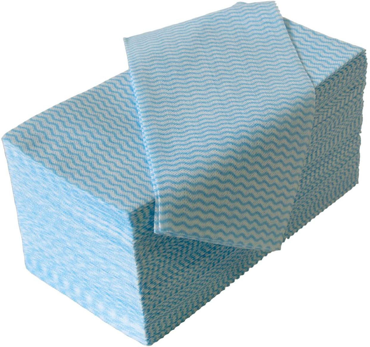 STRIX DESIGN(ストリックスデザイン)ふきん 100枚 ブルー J-116
