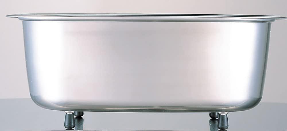 Arnest(アーネスト) 脚付 ステンレス 洗い桶 中栓付き A-75435 ステンレスの商品画像6