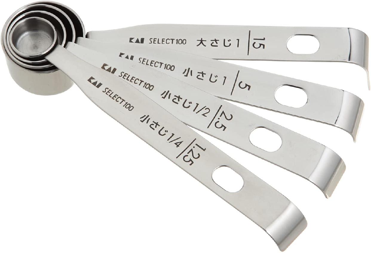 SELECT100(セレクト100) 計量スプーン DH3006 ステンレスの商品画像