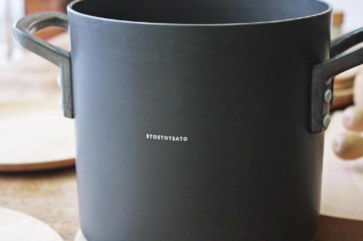 ETOETOTEATO(エトエトテアト) 寸胴鍋 ブラック×ブラック 4.3L ET014の商品画像4