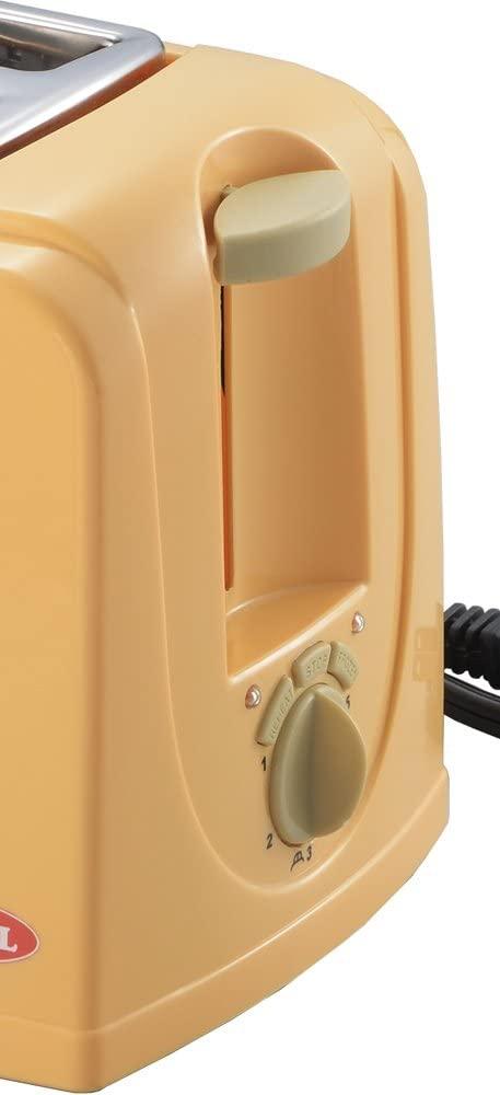PUEL(プエル) ポップアップトースター ジャムバタースプーン付き オレンジ PU-108Aの商品画像3
