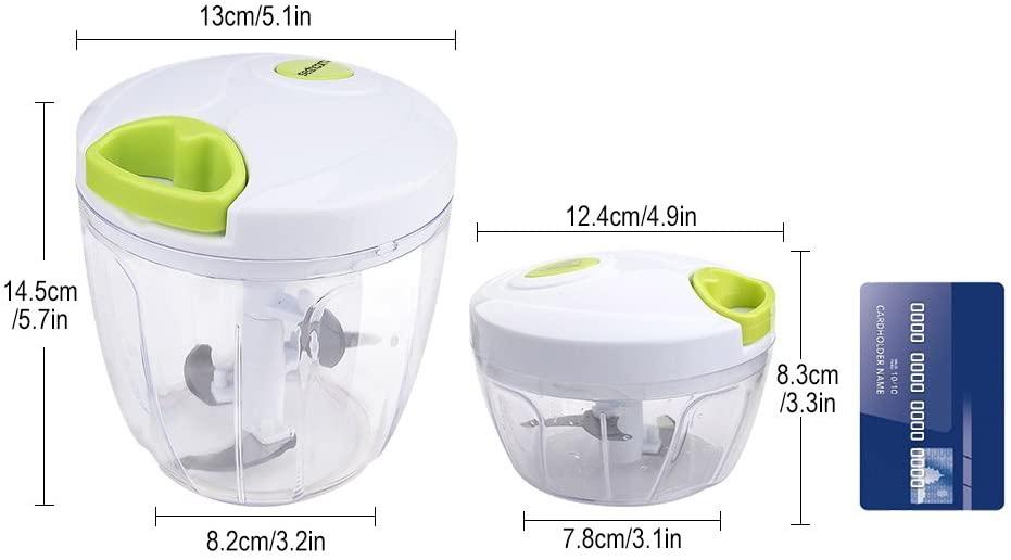 Sedhoom(セッドホーム)みじん切り器 チョッパー ホワイト 900ml アップグレード 003528の商品画像3