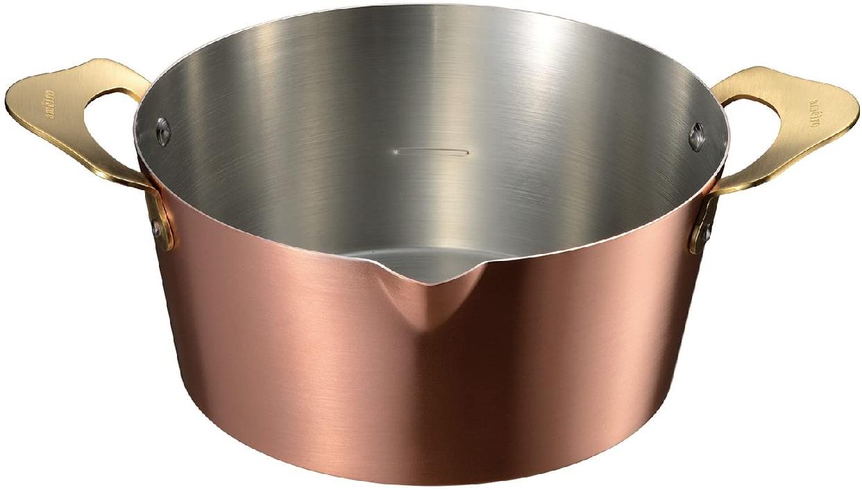 AUX(オークス) 揚げ物鍋18(内面:錫メッキ)【アメイロ】オレンジ COS8005の商品画像