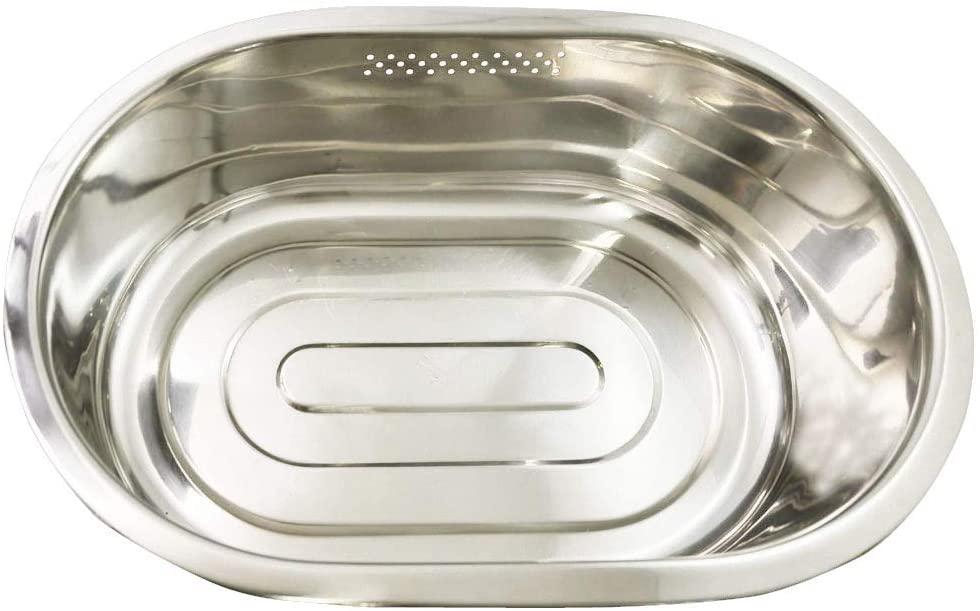 パール金属(PEARL) 洗い桶 小判型 脚高ゴム付 DZ1140 ステンレスの商品画像2