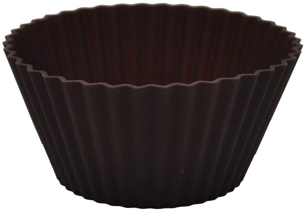 Kai House SELECT(カイハウスセレクト)型ばなれしやすいシリコーン製のマフィンカップ4個入り DL6354 ブラウンの商品画像4