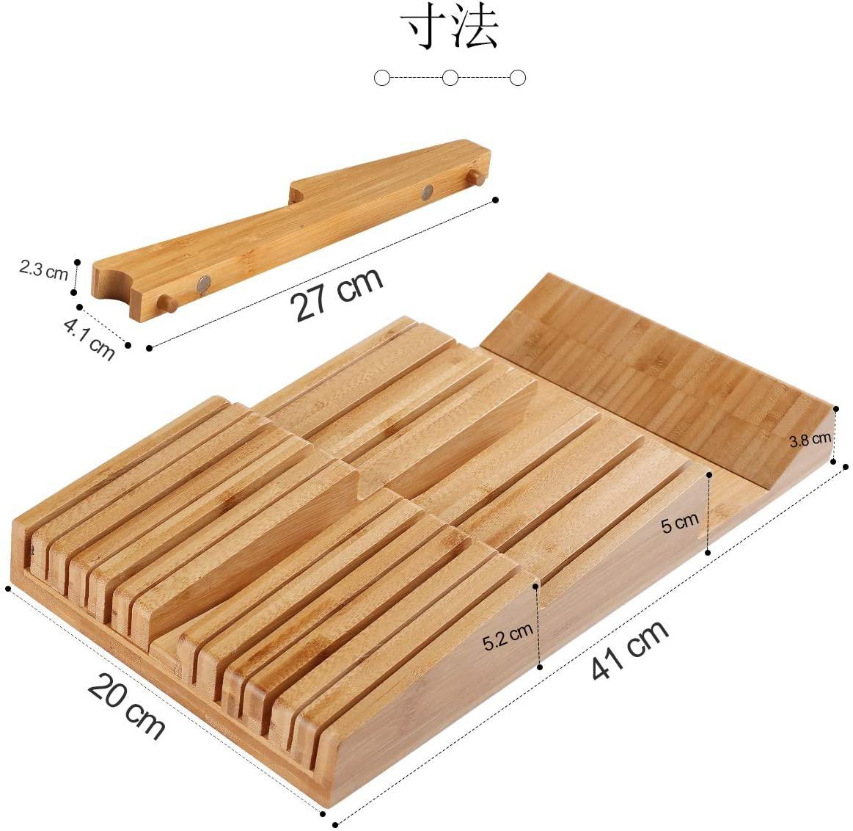 HHXRISE 包丁スタンド 竹製 ブラウンの商品画像3