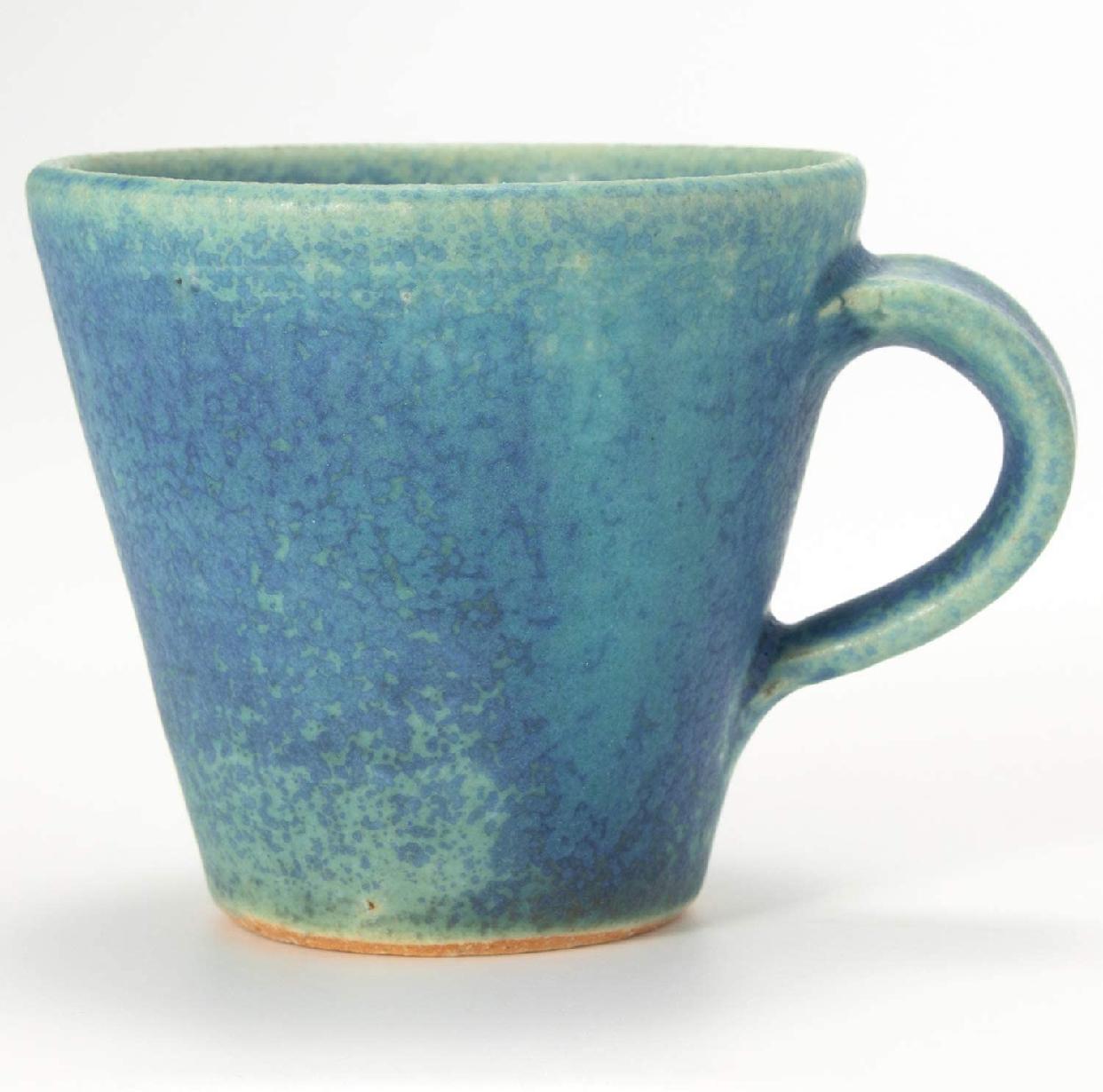 丸伊製陶 信楽焼 へちもん エスプレッソカップ 青彩釉の商品画像4