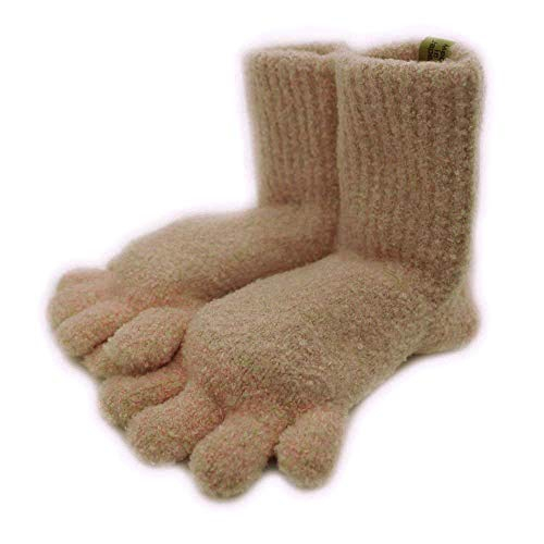 SocksDEPO(そっくすでぽ) てぶくろ屋さんがつくった靴下 モコモコ5本指ソックス ショート丈シングルタイプ